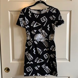 Tribal Dress with open mid.
